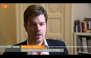 Phil v. Sassen bei ZDF heute zum Thema Cloud Computing